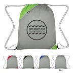 Triangle Corner Drawstring Sports Backpack