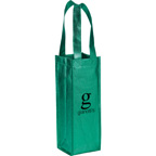 Metallic Single Bottle Wine Tote Bag