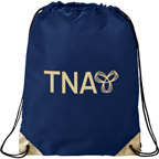 Metallic Accent Drawstring Sports Backpack