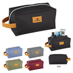Heathered Amenity  Toiletry Bag