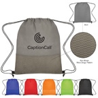 Non Woven Wave Design Drawstring Bag