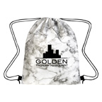 Marbled Non Woven Drawstring Bag