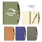 Eco-inspired Spiral Notebook and Pen