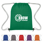 Heathered Non Woven Drawstring Bacpack