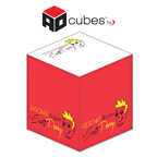 2.75x2.75x2.75 Cube - 3 color print- 1 design