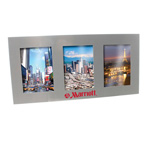 Silver Metal Triple Photo Frame