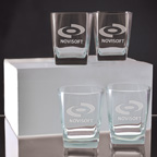 Set of 4 Sterling DOF 13 Ounce Glasses