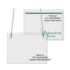 Top Loading I.D. Name Card Holder w/Neck Cord (3 x 4)