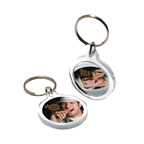 Round Acrylic Key Tag W/ Mirror Back