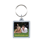 Square Acrylic Key Tag W/ Mirror Back