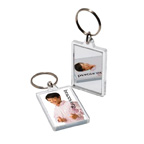Small Rectangle Acrylic Key Tag W/ Mirror Back