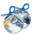Full Color Round Polyspectrum Bag Tag W/ Soft Strap