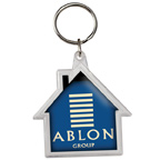 House Shaped Crystal Key Tag
