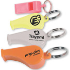 Colored Whistle with KeyRing