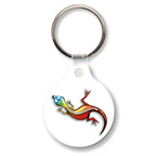 Small Round Full Color Key Tag with tab