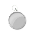 BLANK- Large Round Snap In Key Tag
