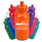 Colored 20 ounce Bike Bottle