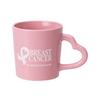 Heart Handle Colored Mug - 14 Ounce