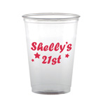 Soft sided cup 10 oz clear or frosted