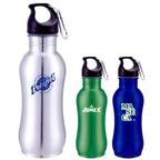 20 oz Wide Mouth Stainless Steel Bottle W/ Carabiner