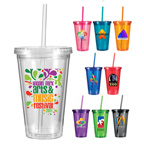 Full Color 16 oz. Victory Acrylic Tumbler