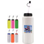 Full Color 32 OZ Sports Bottle with Flexible Straw