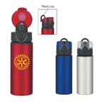 25 OZ Aluminum Sports Bottle With Pop-Up Lid