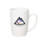 14 oz. White Ceramic Mug
