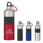 25 Oz. Two-Tone Aluminum Bottle With Rubber Grip