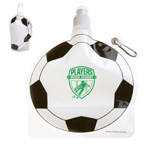 HydroPouch 24 oz Soccer Ball Collaspible Water Bottle