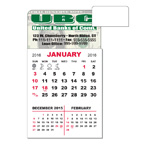 3 X 5.5 Adhesive or Magnet Calendar Pad - Rounded