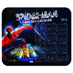 7x8 Calendar Mousepad - Fabric Surface - 1/8 Thick Rubber