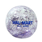 16 Inch Clear Patriotic Glitter Beach Ball