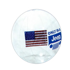 16 Inch Clear  Beach Ball W/ American Flag Insert