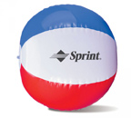 10 Inch Red White and Blue Beach Ball