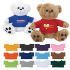 8 Inch Plush Big Paw Teddy Bear With Shirt
