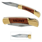 Small Rosewood Pocket Knife - Gold